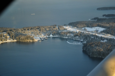 Ouzinkie Harbor - January 17, 2011 - photo by Ted Panamarioff