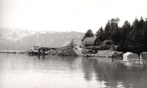 Cannery and dock destroyed